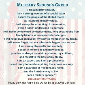 Military Life Spouse Creed